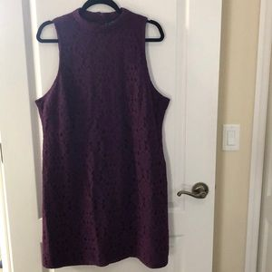 Forever21 Purple Lace overlay dress 1X